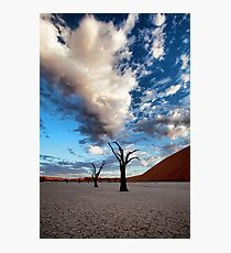 Clouds over Dead Vlei Photographic Print