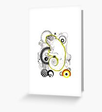 Chameleon Vector Dynasty Greeting Card