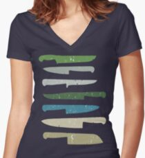 Chef's knives Women's Fitted V-Neck T-Shirt