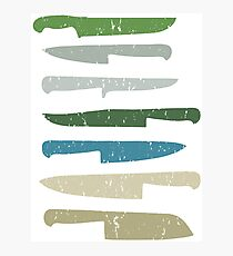 Chef's knives Photographic Print