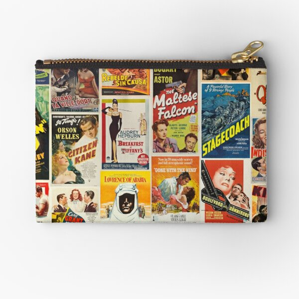 Classic Movie Poster Collage Zipper Pouch