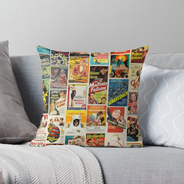 Classic Movie Poster Collage Throw Pillow