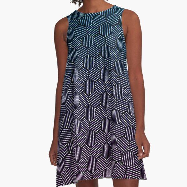 Hexagon Rotation Pattern A-Line Dress