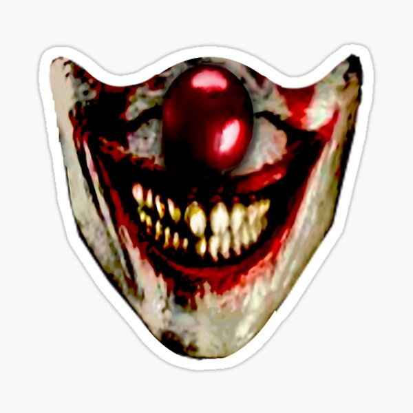 I'm All Smiles; Evil Clown Sticker