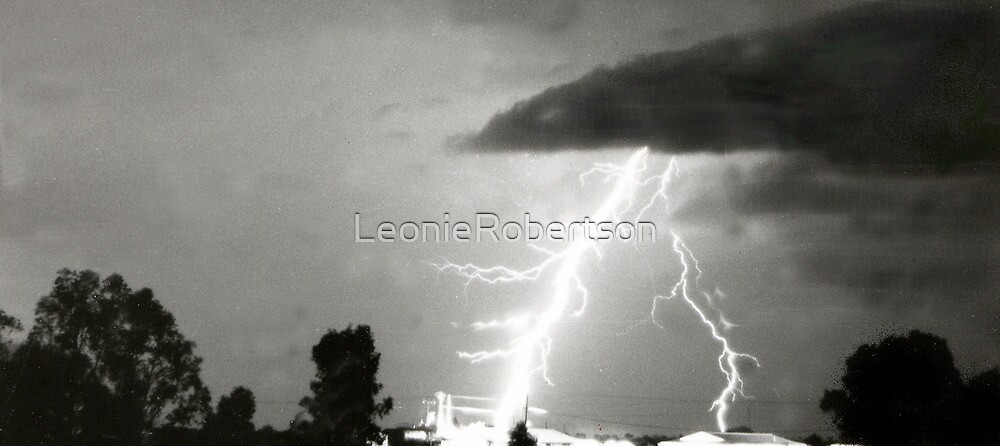 Lightening shocks house by LeonieRobertson