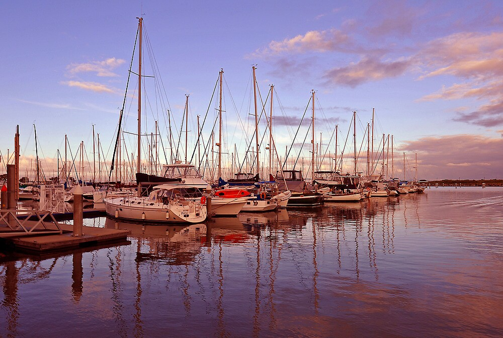Sunrise at Scarborough Boat Harbour. Brisbane, Queensland, Australia. (3)) by Ralph de Zilva