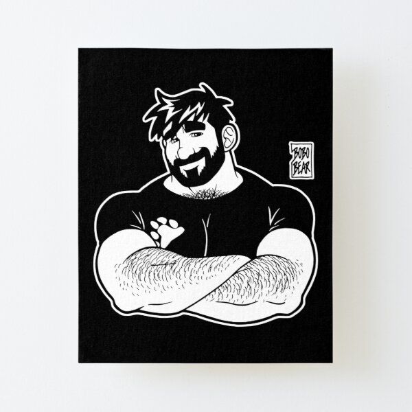 ADAM LIKES CROSSING ARMS - LINEART Canvas Mounted Print
