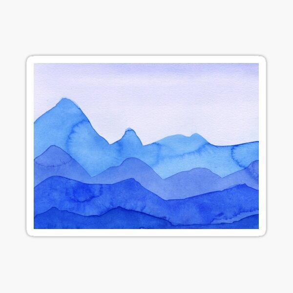 Berge in Blau, Türkis, Azure Sticker