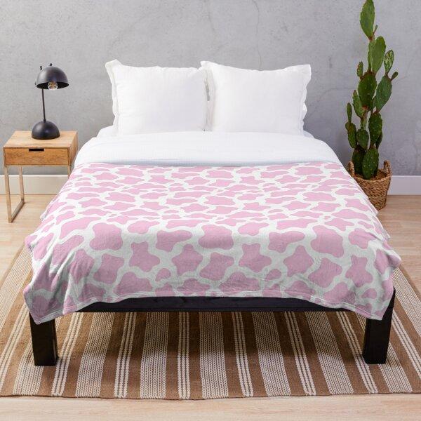 pink cow print! Throw Blanket