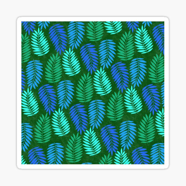 Tropical Leaves-Green Sticker