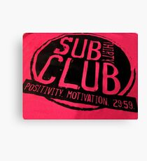 #SUB#CLUB# Canvas Print