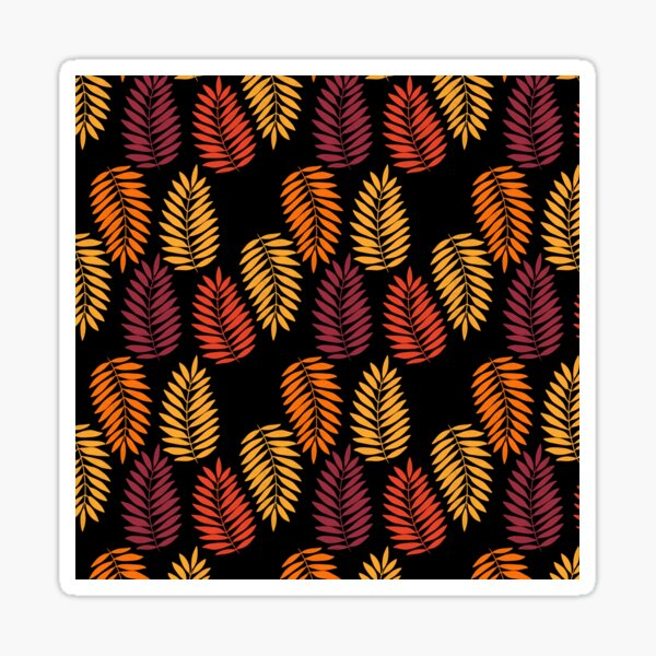 Bold Tropical Leaves Sticker
