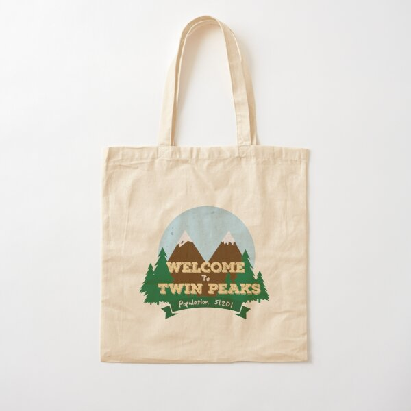 Welcome To Twin Peaks Cotton Tote Bag