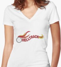 Hell Track Logo From the 80's Movie Rad  Women's Fitted V-Neck T-Shirt