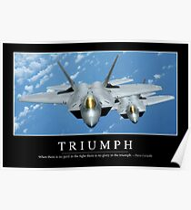 Triumph: Inspirational Quote and Motivational Poster Poster
