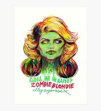 Zombie Blondie Art Print