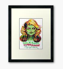Zombie Blondie Framed Print