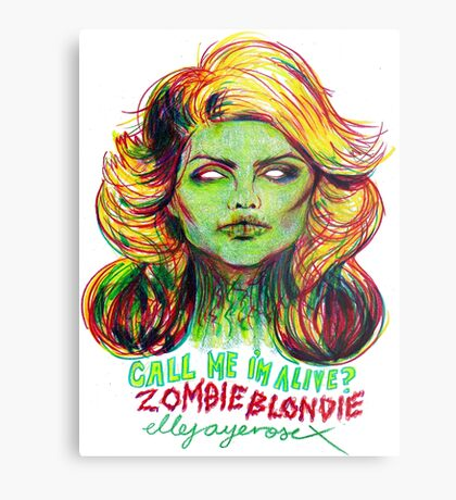 Zombie Blondie Metal Print