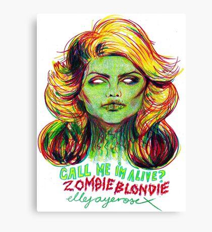 Zombie Blondie Canvas Print