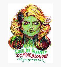 Zombie Blondie Photographic Print
