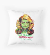 Zombie Blondie Throw Pillow