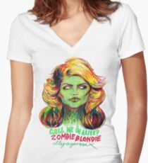 Zombie Blondie Women's Fitted V-Neck T-Shirt