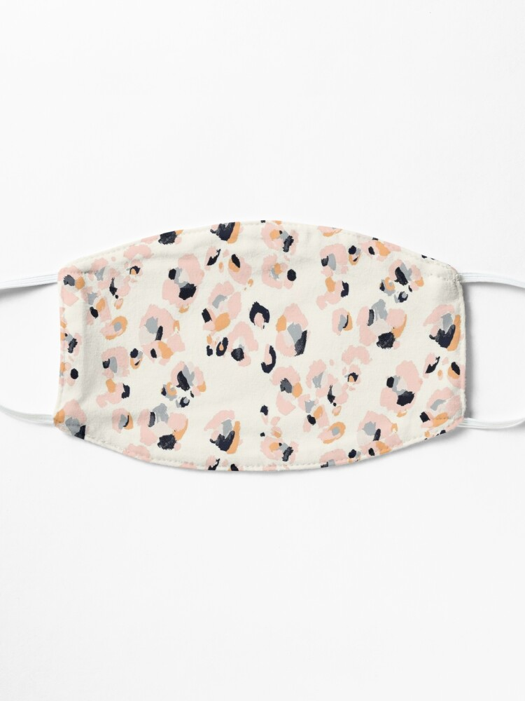 Alternate view of Pink Leopard Mask
