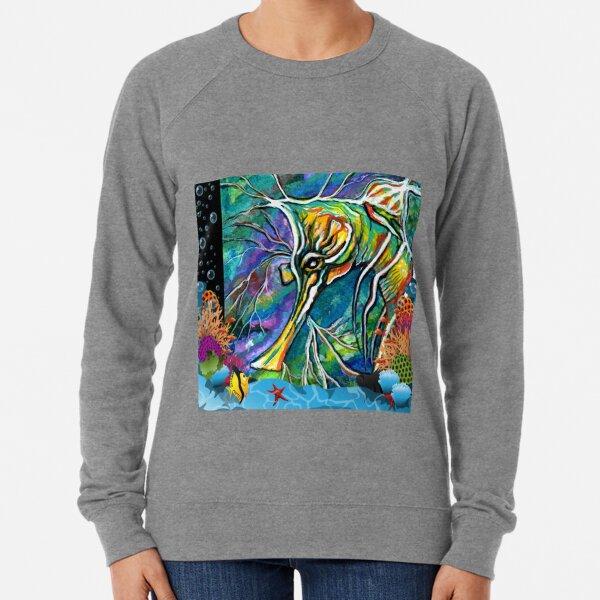 Leafy Sea Dragon by Sheridon Rayment Lightweight Sweatshirt