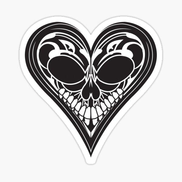 Dark Shadows - Skull Heart Sticker