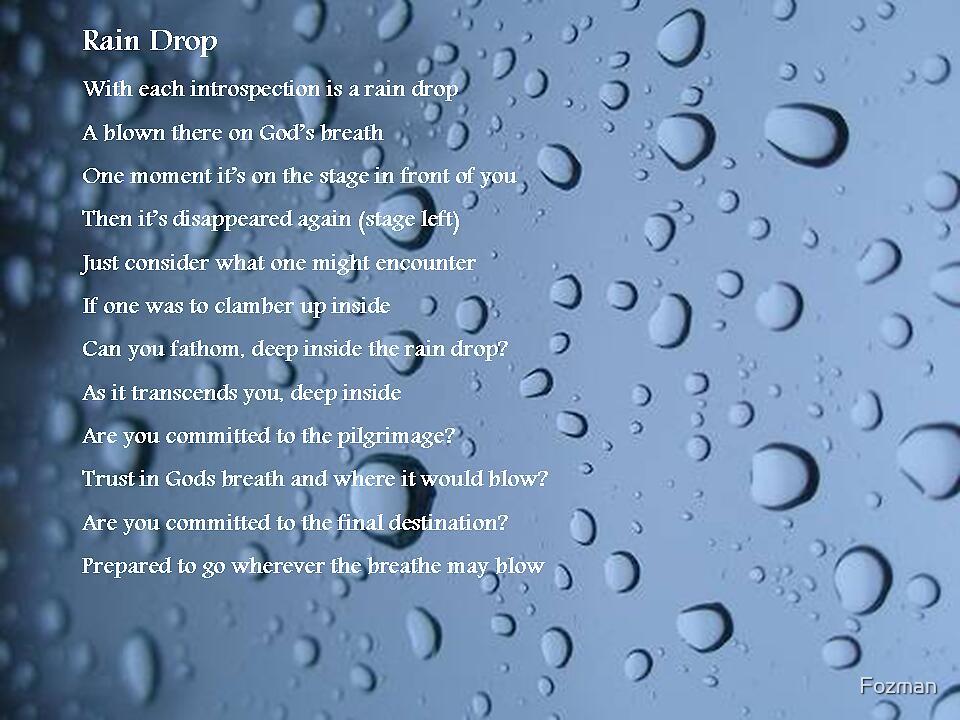 Rain Drop by Fozman
