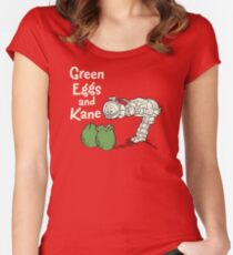 Green Eggs and Kane Women's Fitted Scoop T-Shirt