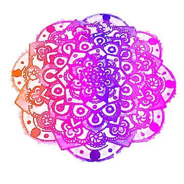 Watercolour Mandala  by robinmcgill
