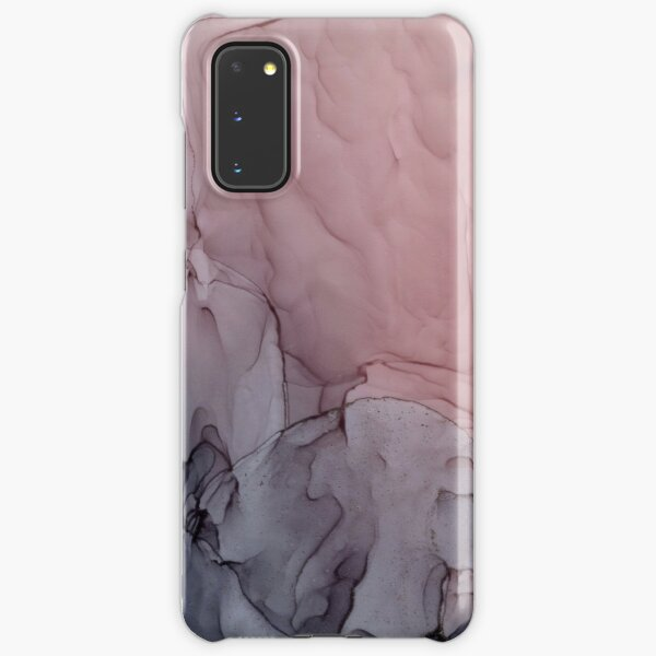 Blush and Gray Flowing Ombre Abstract 1 Samsung Galaxy Snap Case