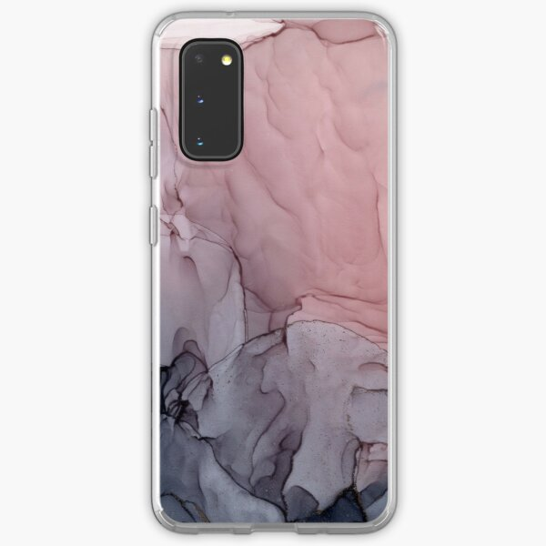 Blush and Gray Flowing Ombre Abstract 1 Samsung Galaxy Soft Case