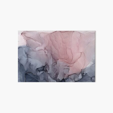 Blush and Gray Flowing Ombre Abstract 1 Art Board Print