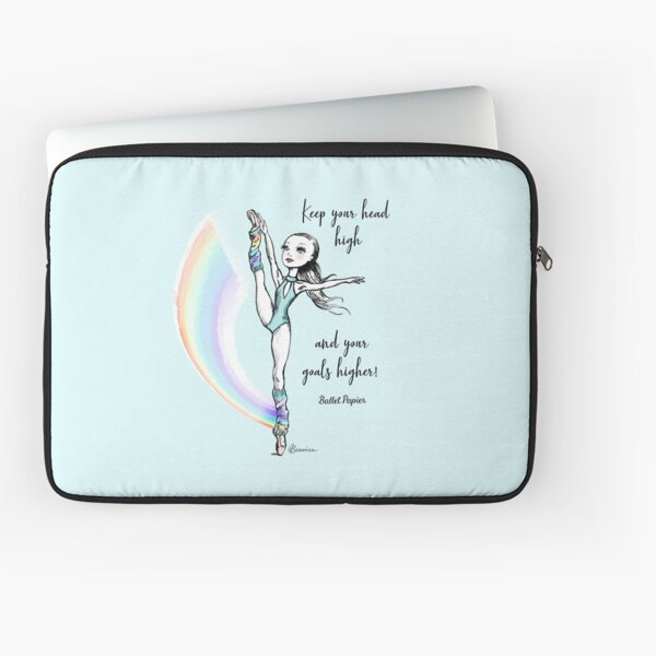 Keep your head high and your goals higher!  Laptop Sleeve