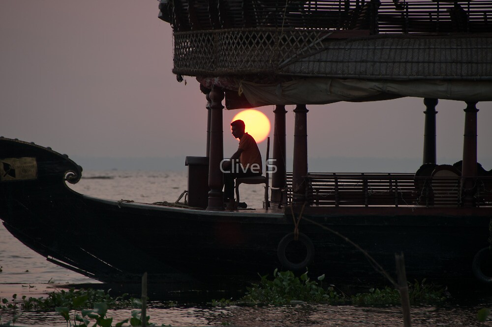 Kettuvallam At Sundown by Clive S