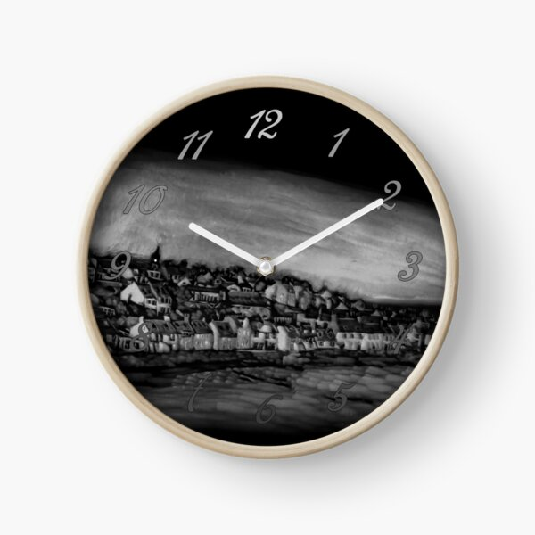 Black and White Version of the Pittenweem Pumpkin Clock