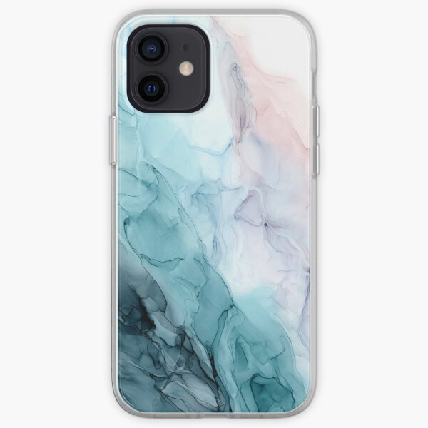 Beachy Pastel Flowing Ombre Abstract 1 iPhone Soft Case