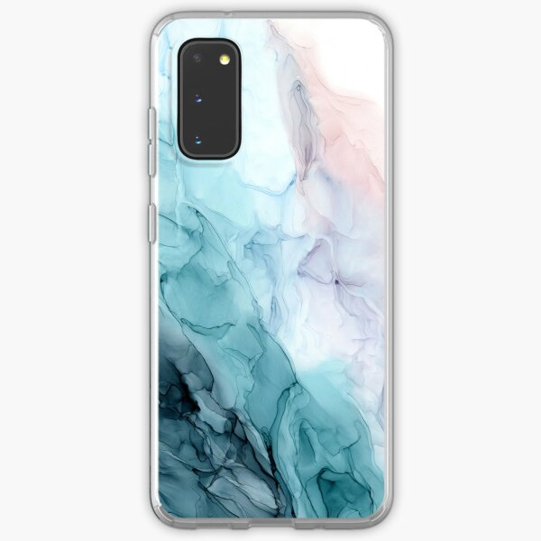 Beachy Pastel Flowing Ombre Abstract 1 Samsung Galaxy Soft Case