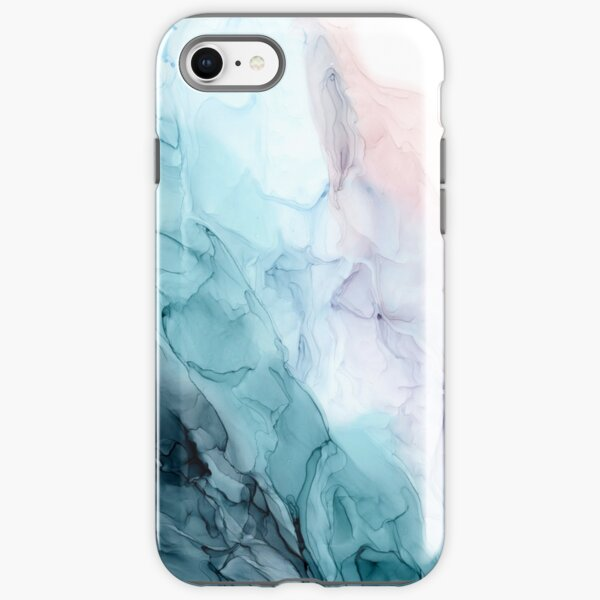Beachy Pastel Flowing Ombre Abstract 1 iPhone Tough Case