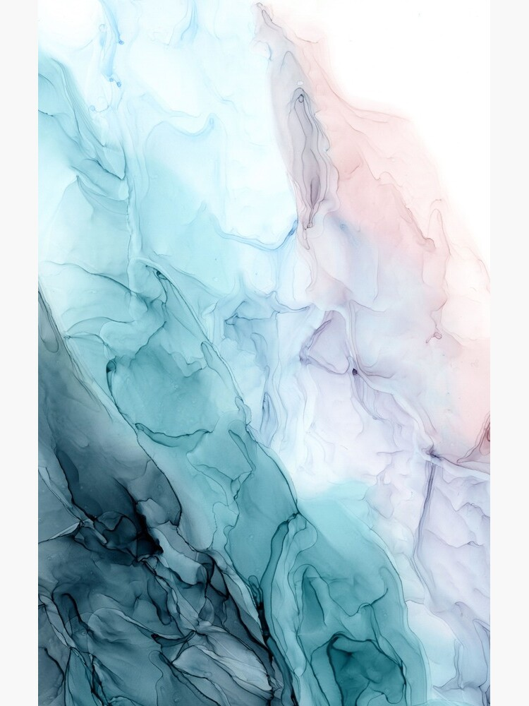 Beachy Pastel Flowing Ombre Abstract 1 by LSchulz19