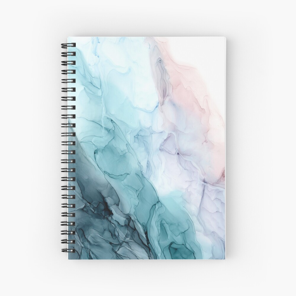 Beachy Pastel Flowing Ombre Abstract 1 Spiral Notebook