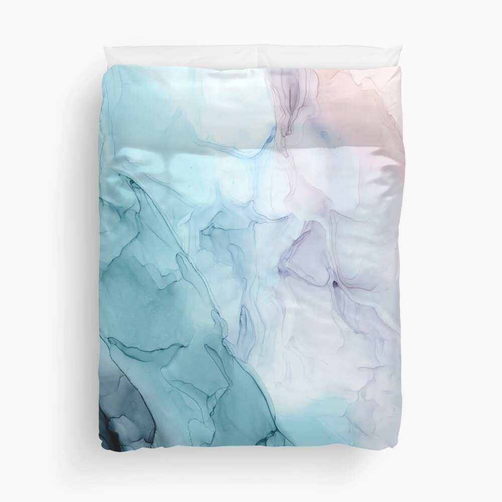 Beachy Pastel Flowing Ombre Abstract 1 Duvet Cover
