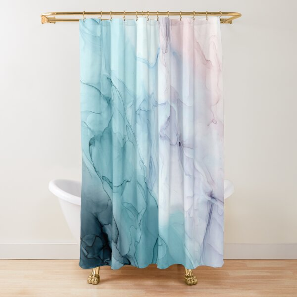 Beachy Pastel Flowing Ombre Abstract 1 Shower Curtain