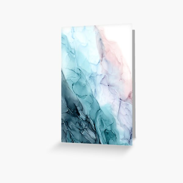 Beachy Pastel Flowing Ombre Abstract 1 Greeting Card