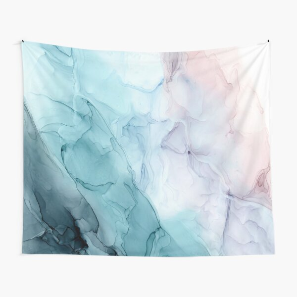 Beachy Pastel Flowing Ombre Abstract 1 Tapestry