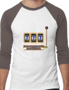 gambler Men's Baseball ¾ T-Shirt