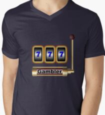 gambler Men's V-Neck T-Shirt
