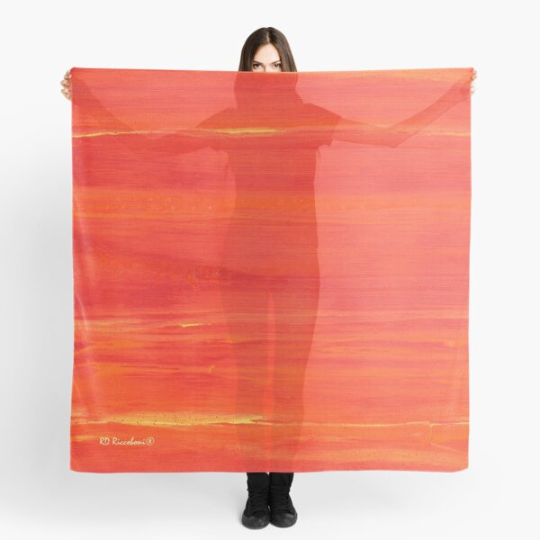 Red Chili Pepper Abstract Painting Picture Scarf